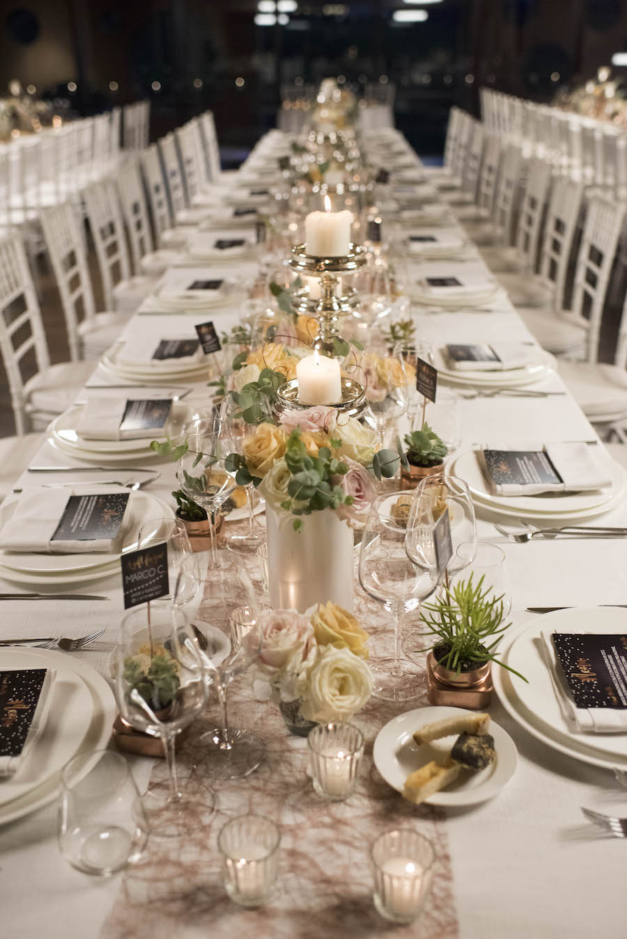 tavola imperiale matrimonio industriale
