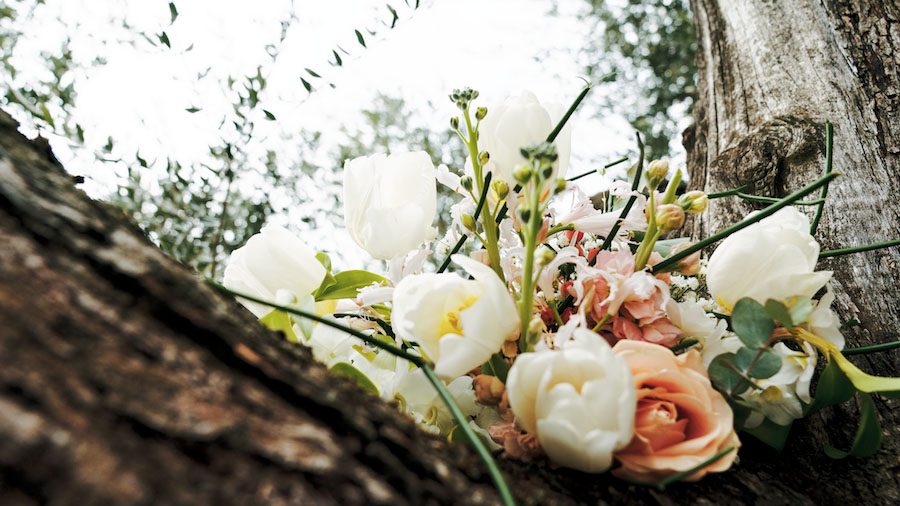 bouquet con tulipani e rose