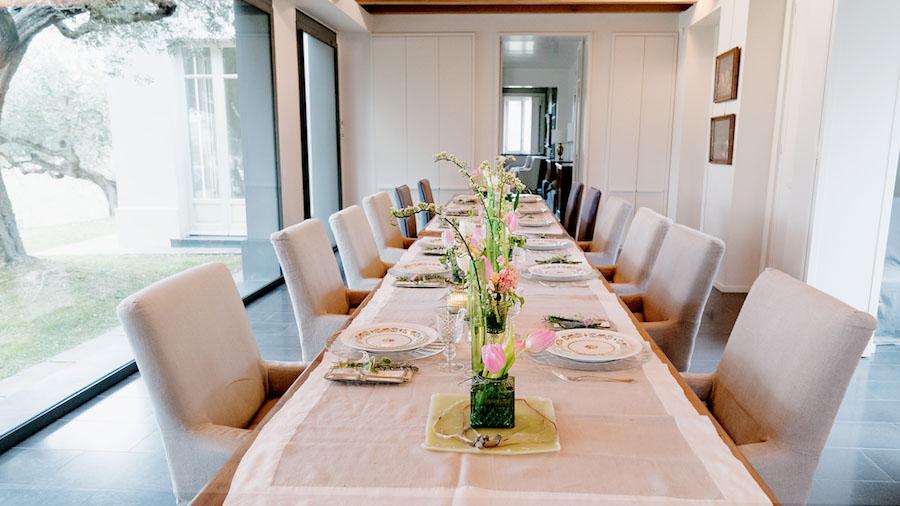 tavola matrimonio vintage
