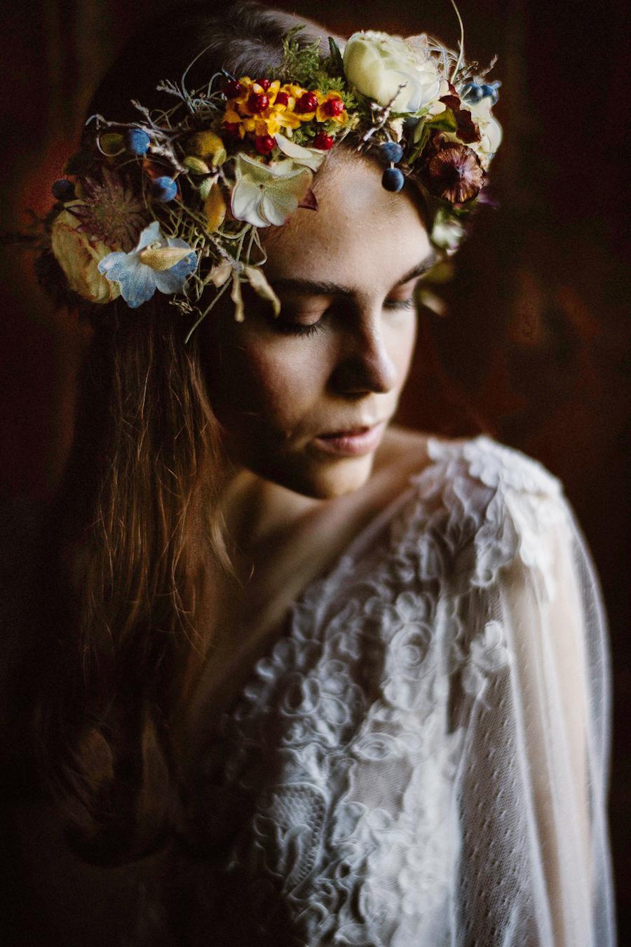 corona di fiori autunnale