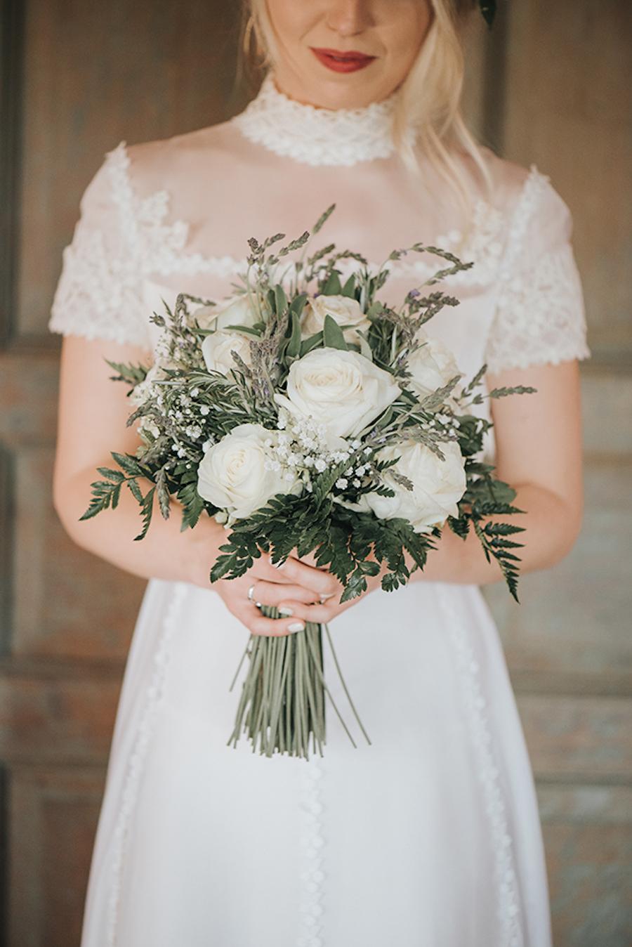 bouquet organico bianco e vere