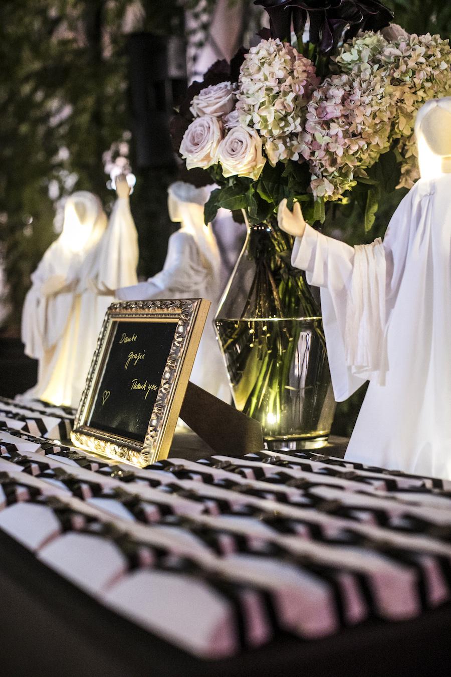 tableau de mariage nero e oro