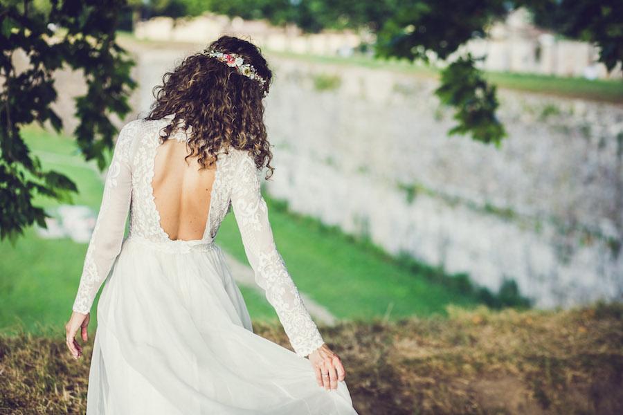 abito da sposa boho chic leila hafzi