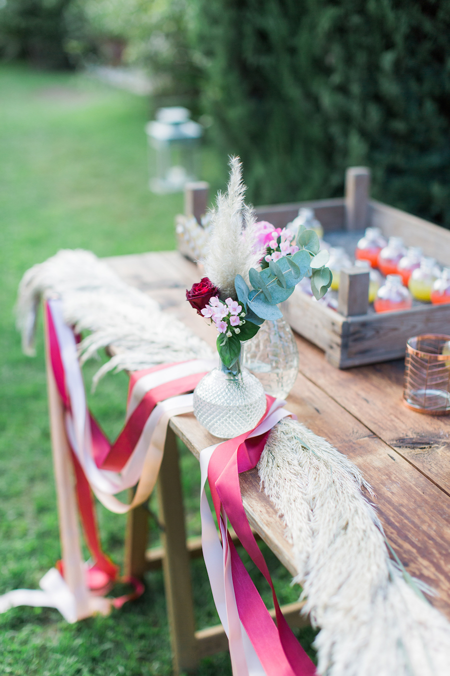 tableau de mariage con succhi di frutta