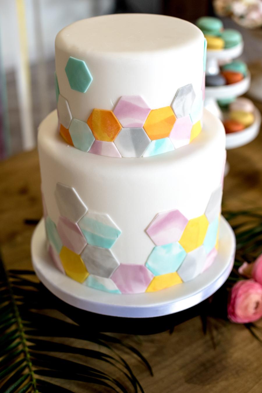 wedding cake geometrica
