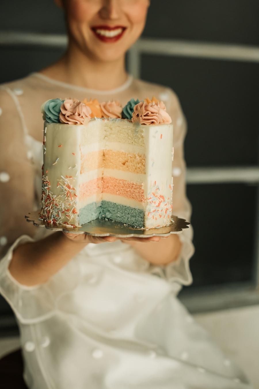 wedding cake colori pastello