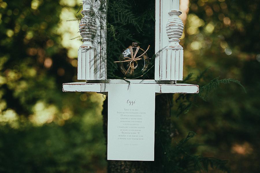 allestimento cerimonia nel bosco