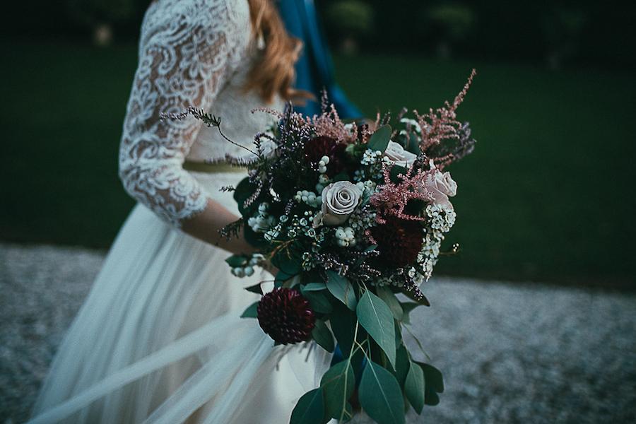 bouquet rosa e bordeaux