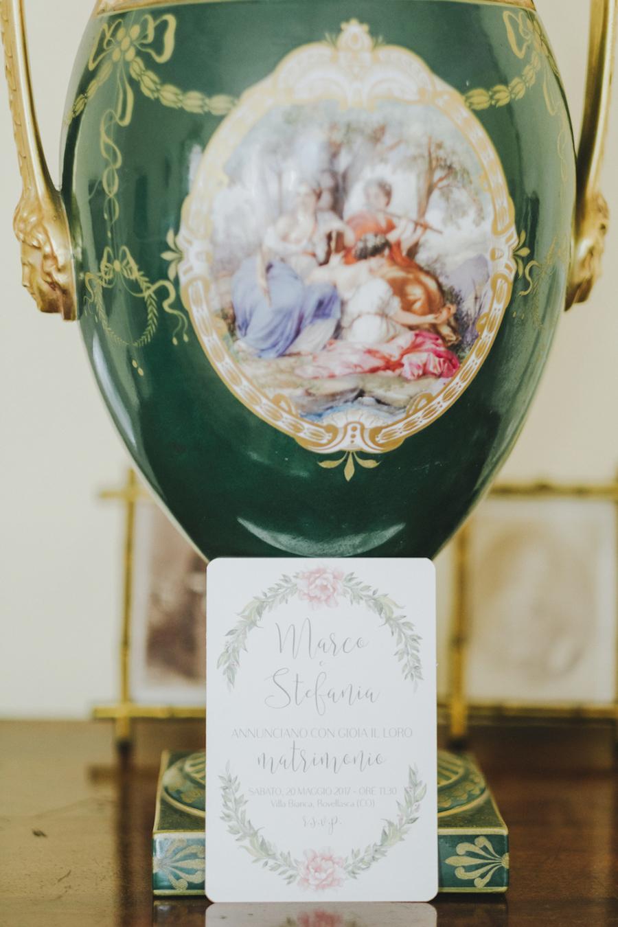 partecipazioni matrimonio con dettagli floreali