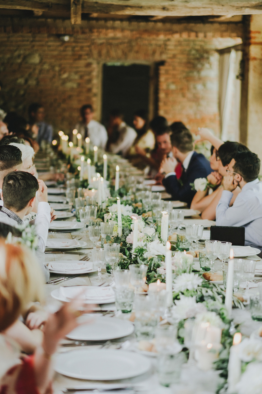 tavola matrimonio rustico rosa e verde