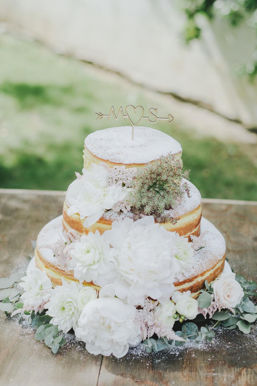 naked cake con fiori