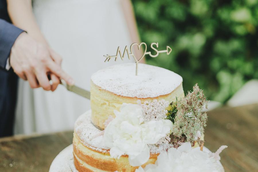 cake topper con iniziali