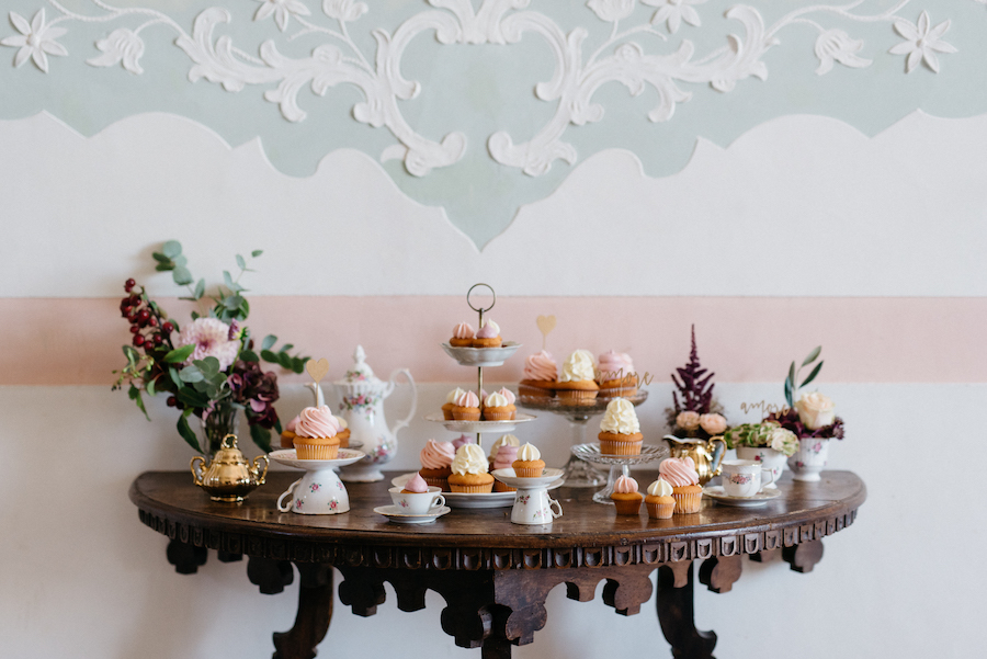 sweet table con cupcakes