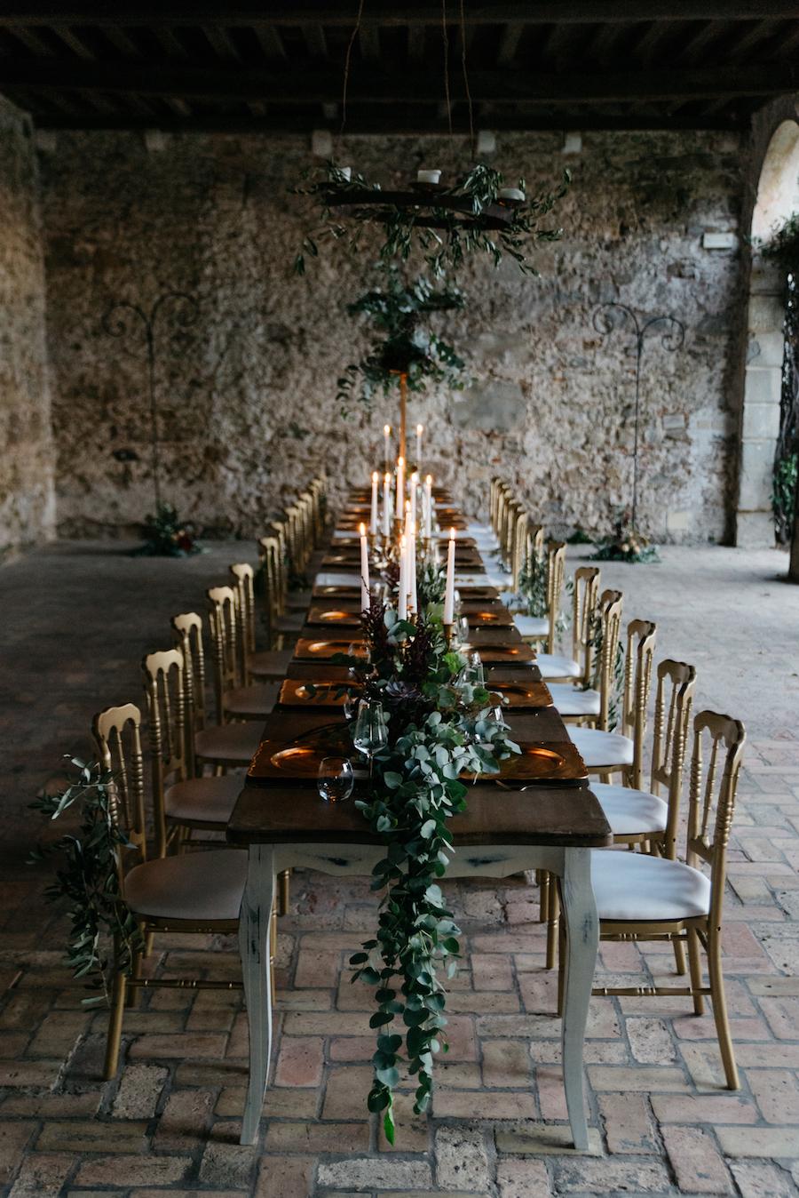 tavola matrimonio organico