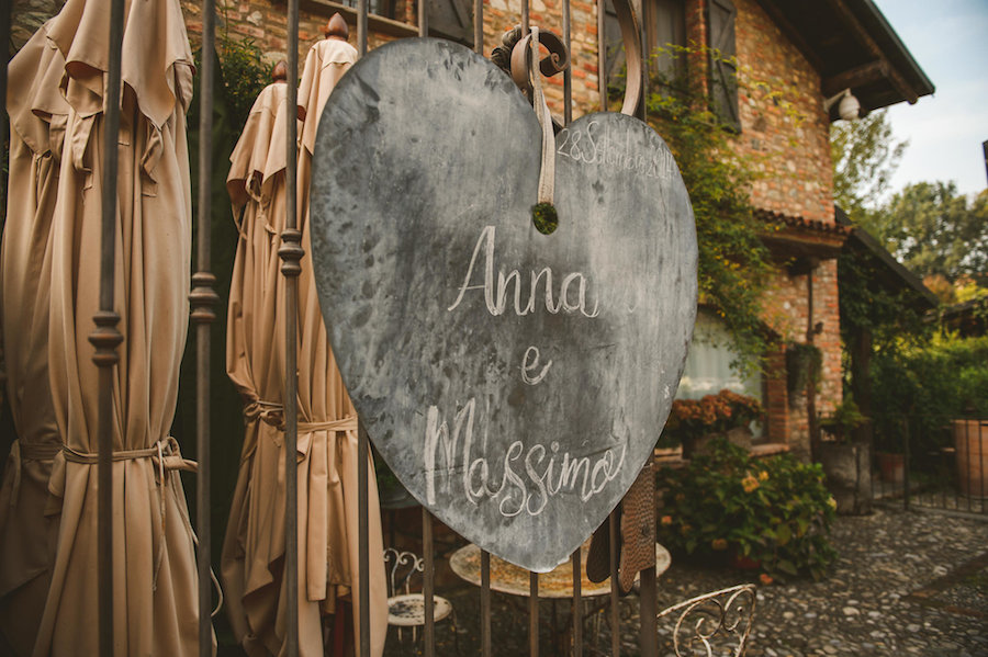 cartello lavagna matrimonio