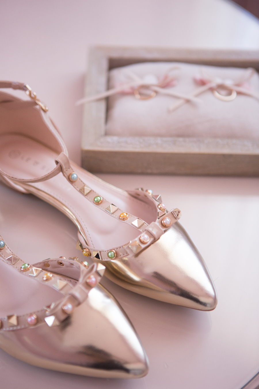 scarpe sposa oro rosa