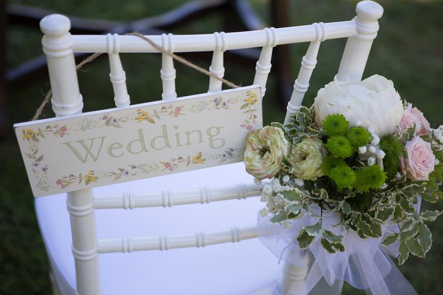 cartello sedia sposi