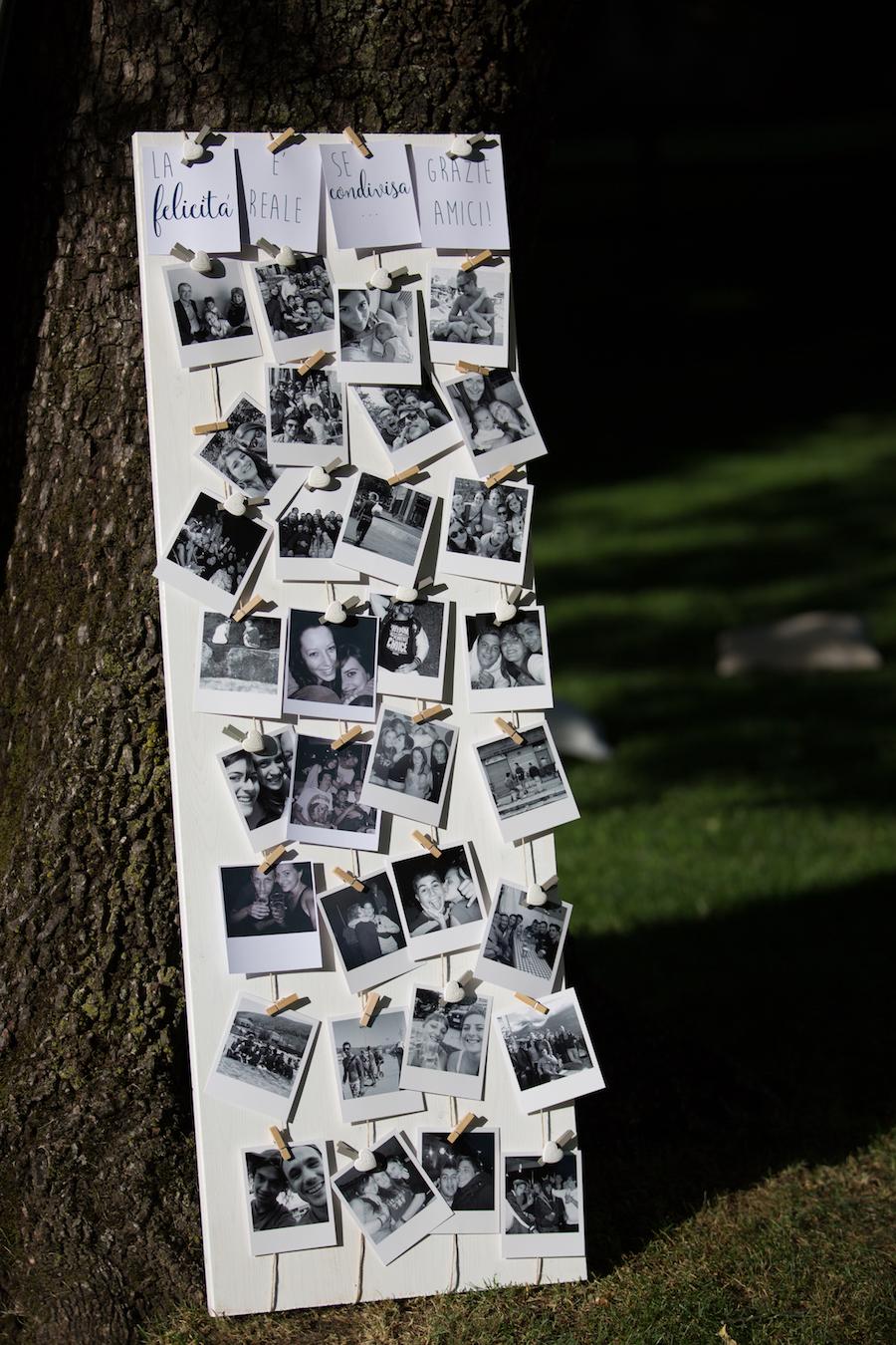 allestimento matrimonio con polaroid