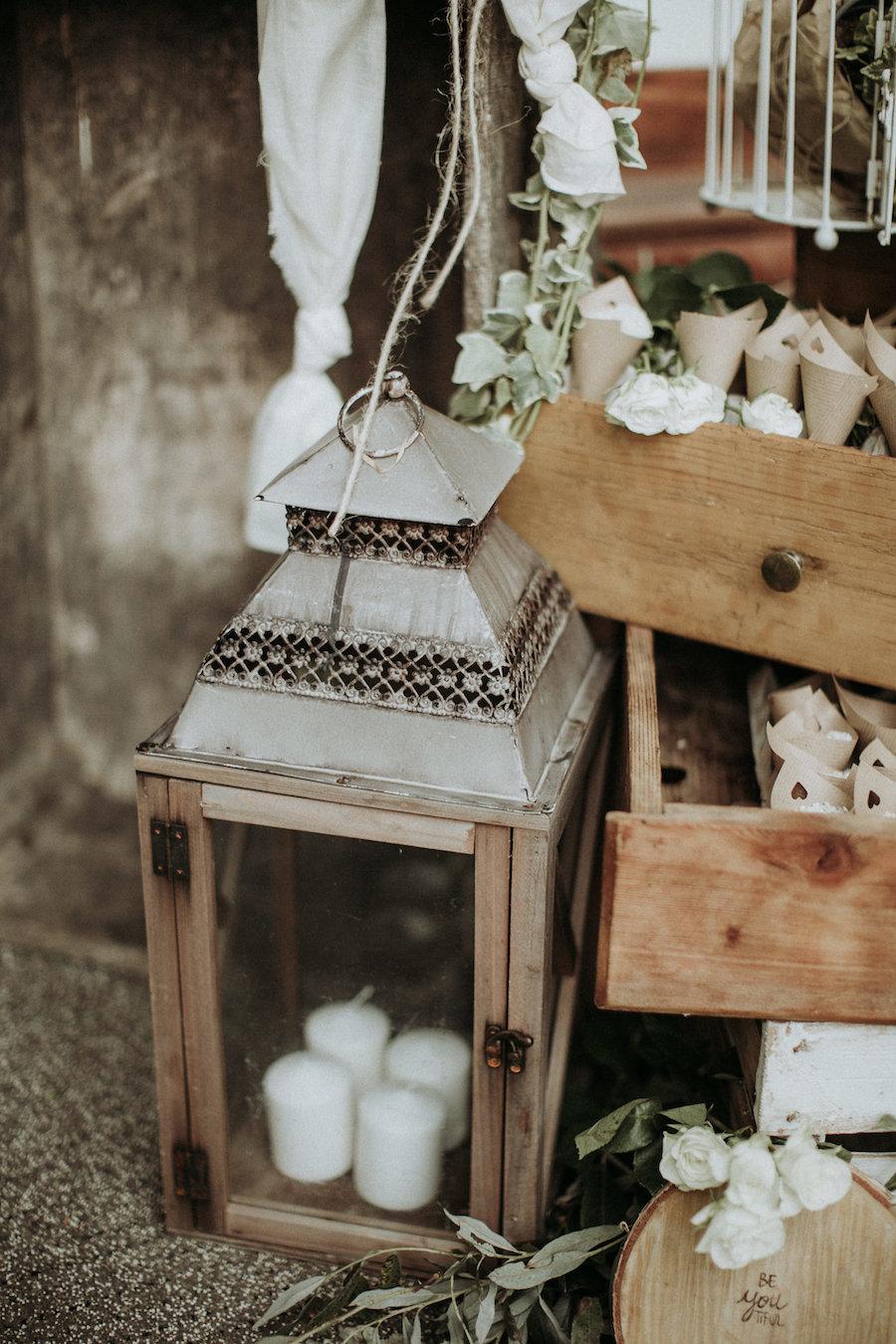allestimento rustico cerimonia