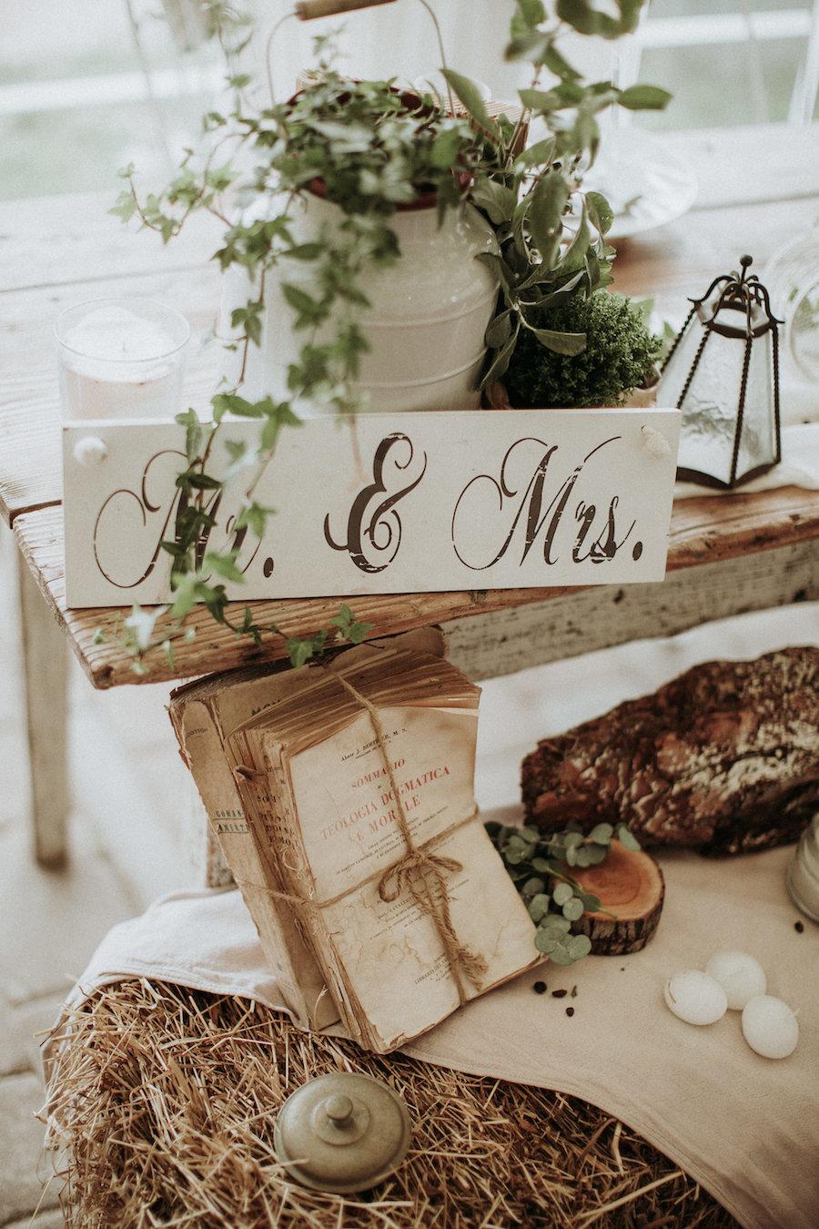 allestimento matrimonio rustico