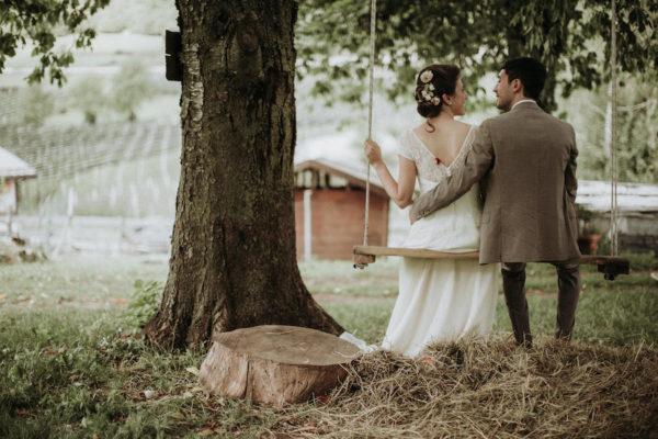 Un matrimonio rustico e retrò