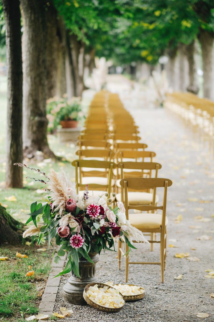 cerimonia all'aperto a villa borromeo