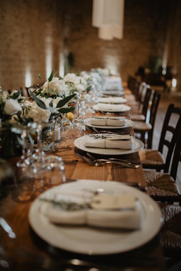 tavola matrimonio rustico organico