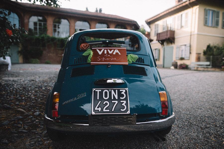 cartello auto sposi