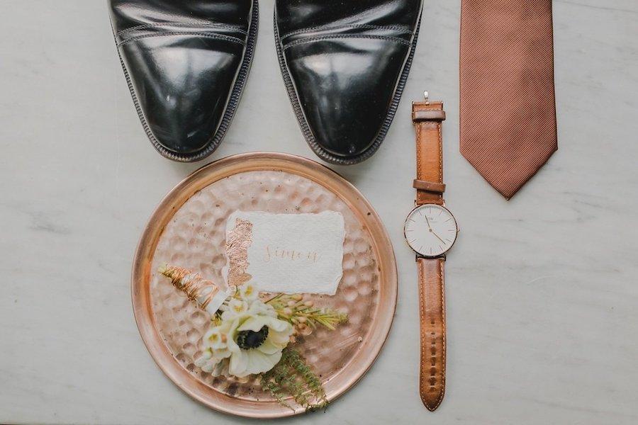 dettagli matrimonio oro rosa