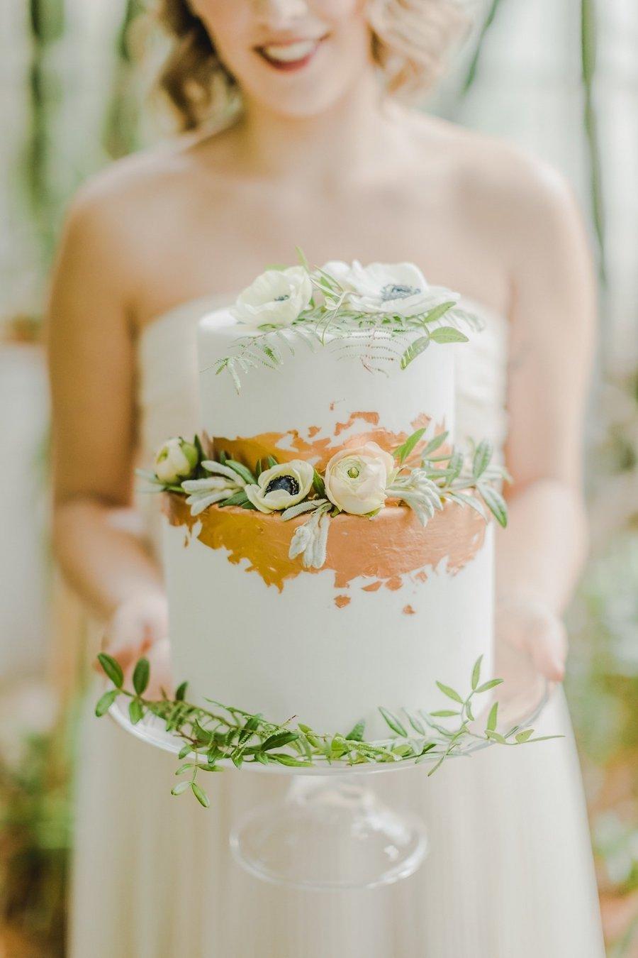 wedding cake bianca e oro rosa
