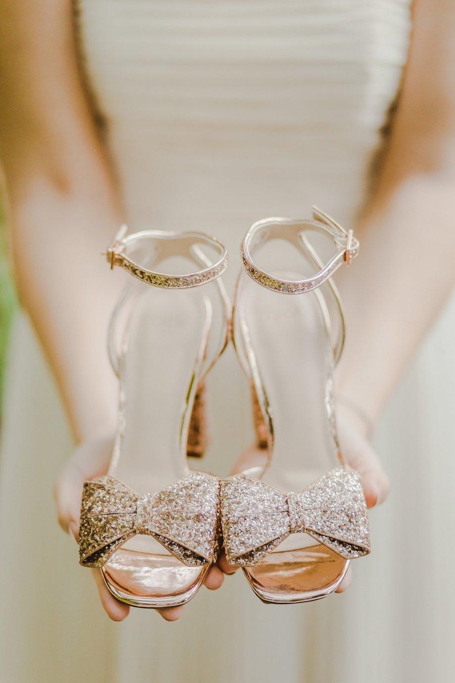 sandali da sposa oro rosa