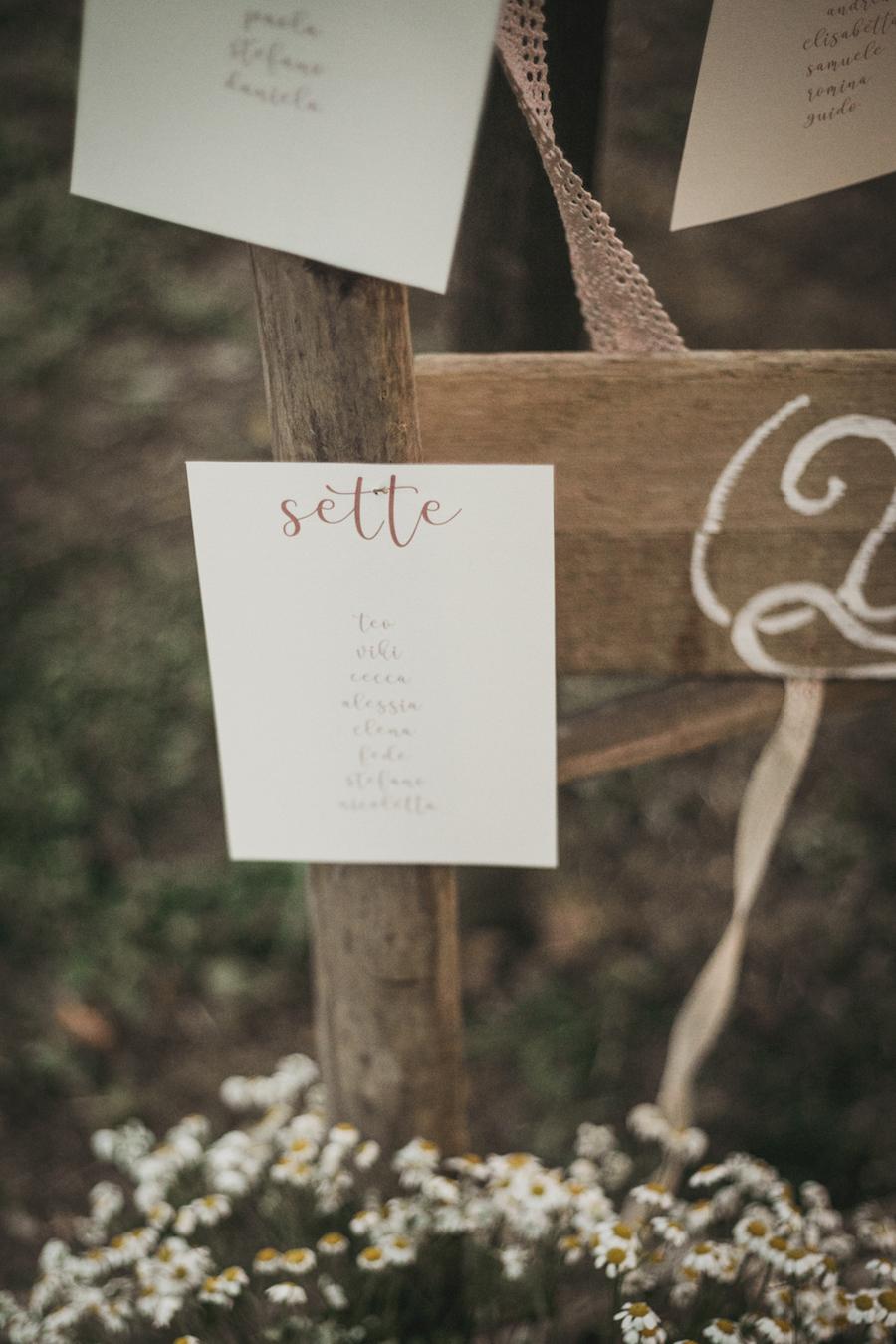 tableau de mariage in legno