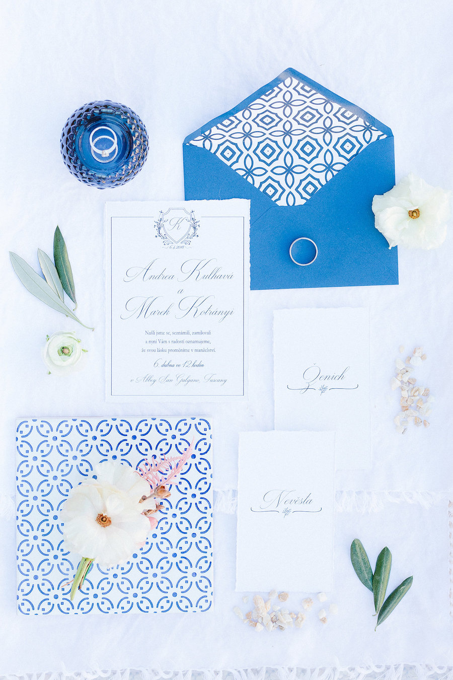 partecipazioni bianche e blu