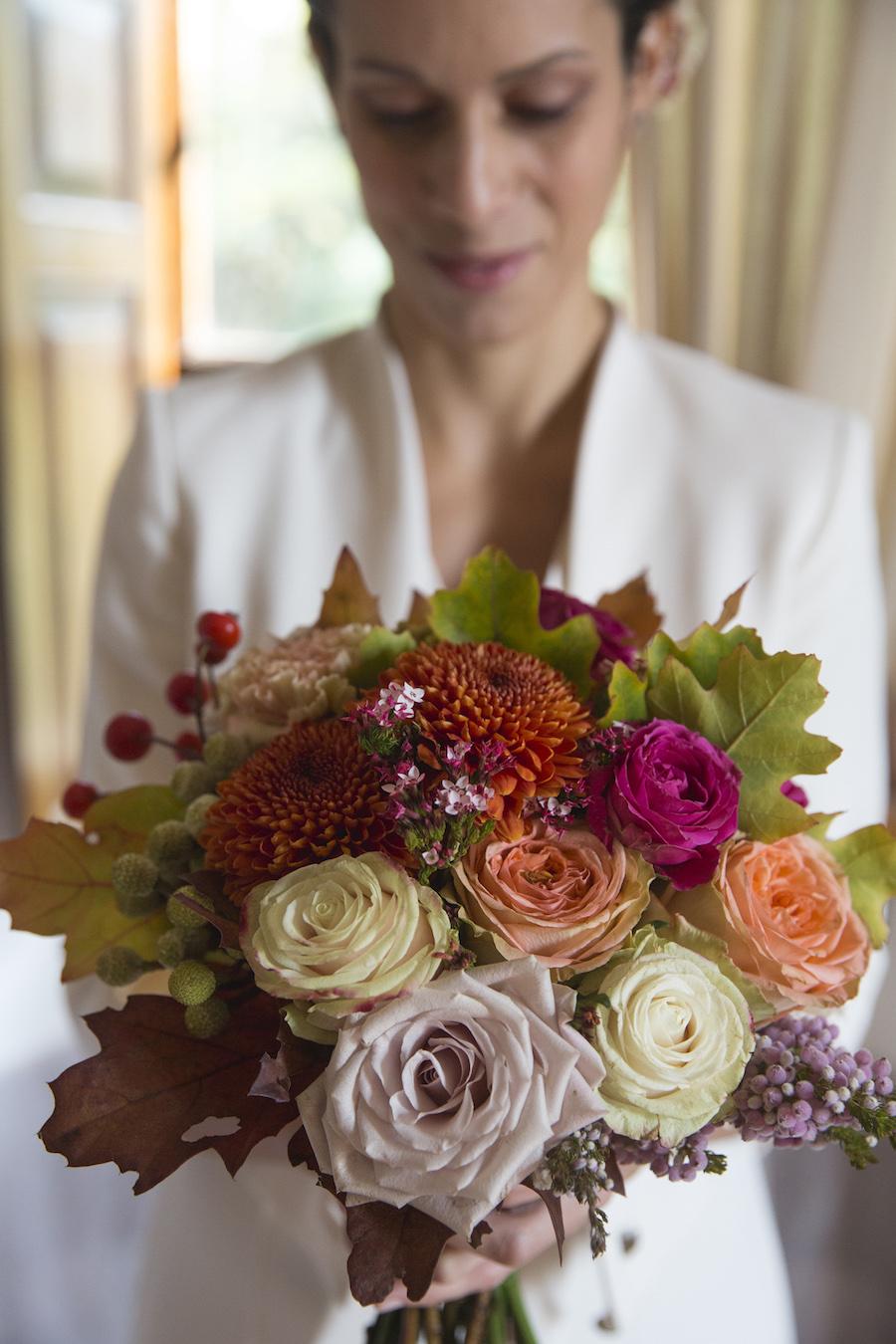 bouquet colorato autunnale