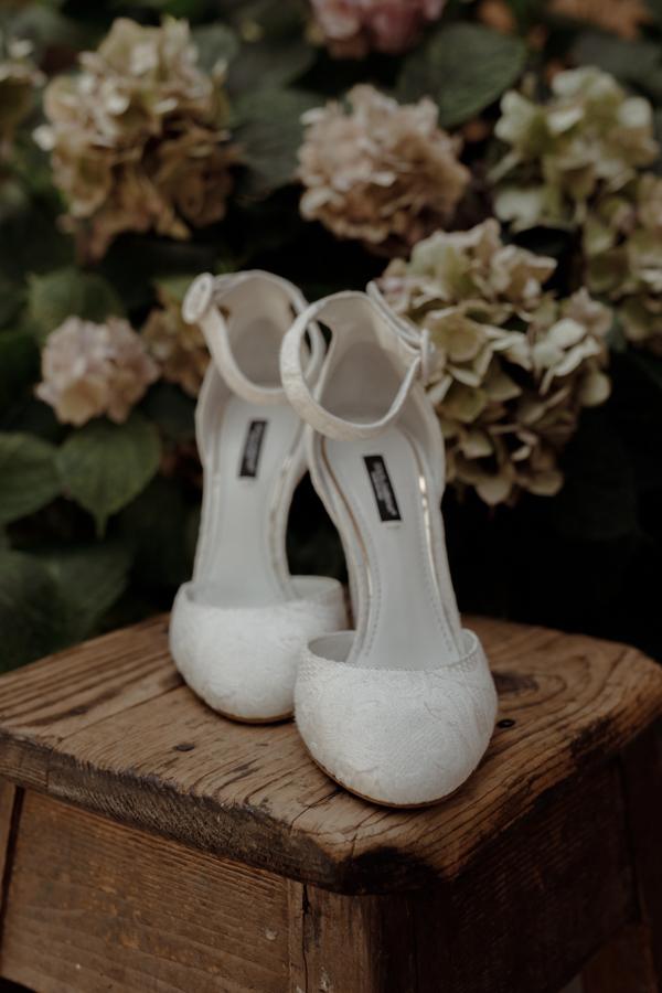 scarpe da sposa in pizzo