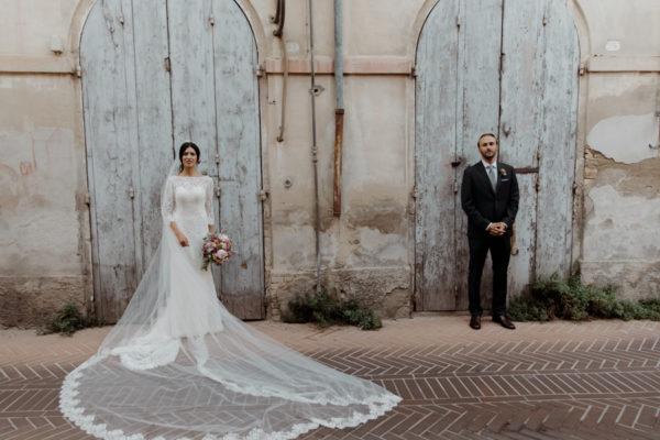 Un matrimonio romantico e senza tempo