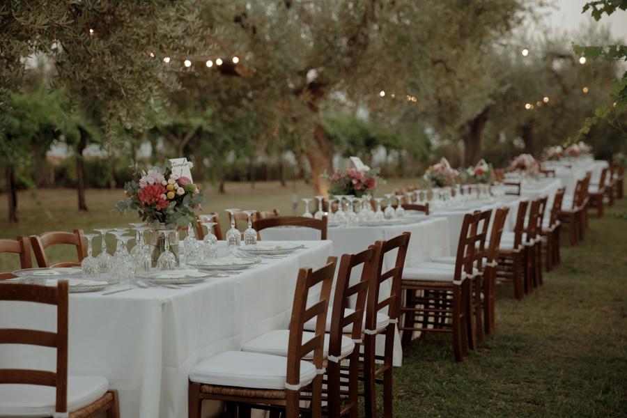 tavola matrimonio rustico e romantico