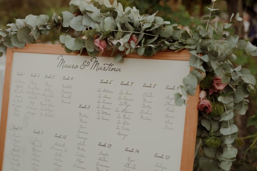 tableau de mariage scritto a mano
