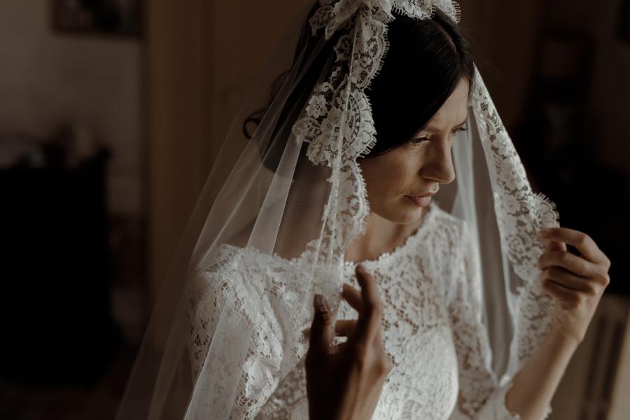 velo da sposa in pizzo