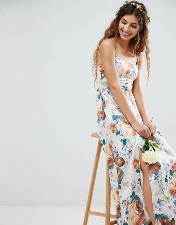 abito damigella a fiori