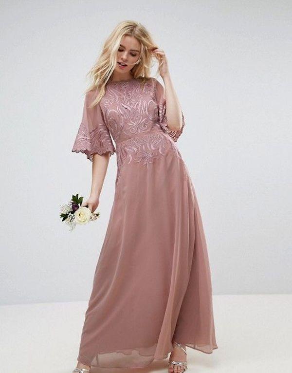 abito damigella rosa