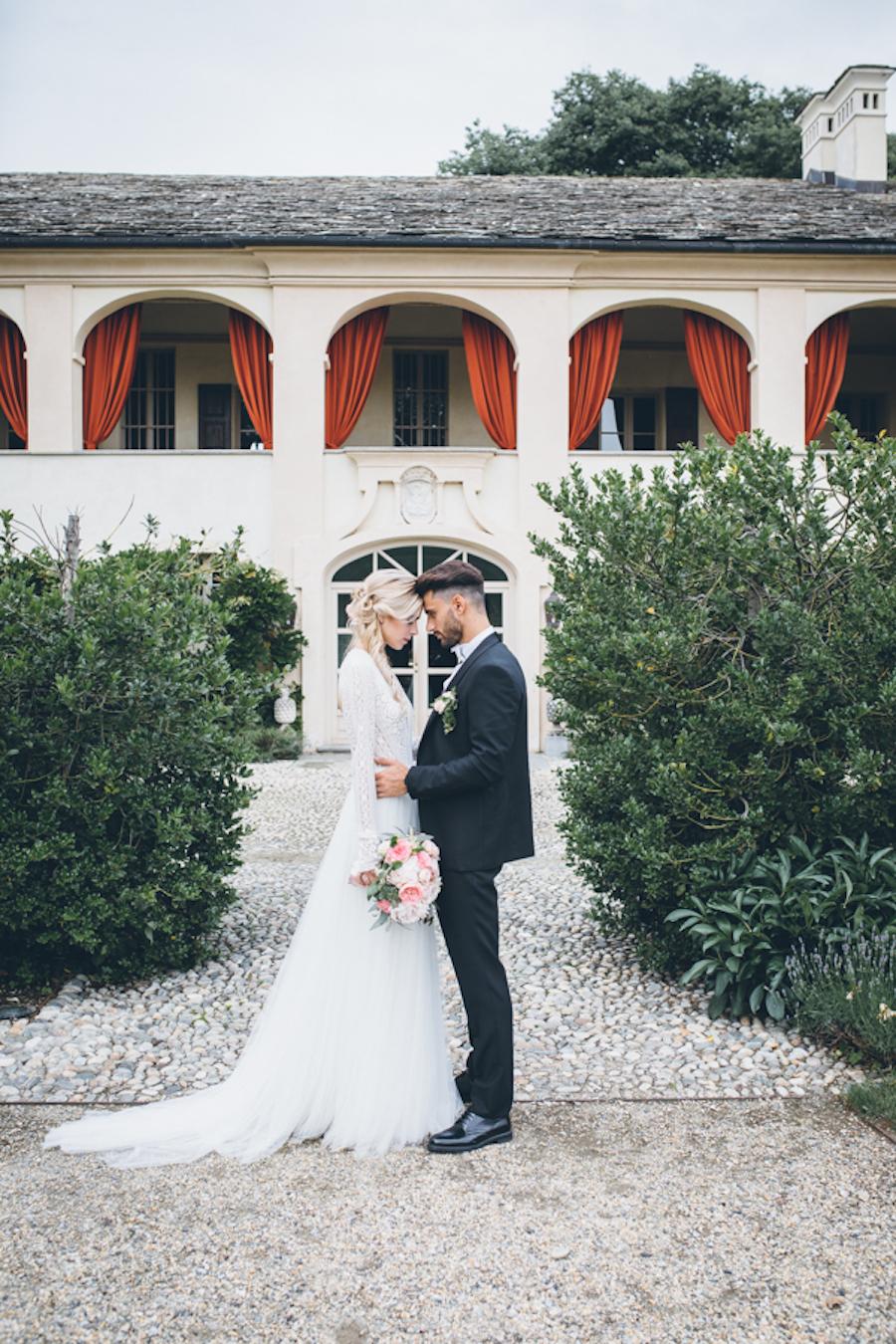 matrimonio romantico a villa chiusano