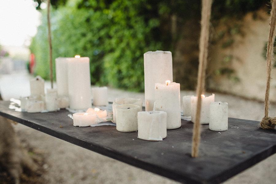 allestimento con candele