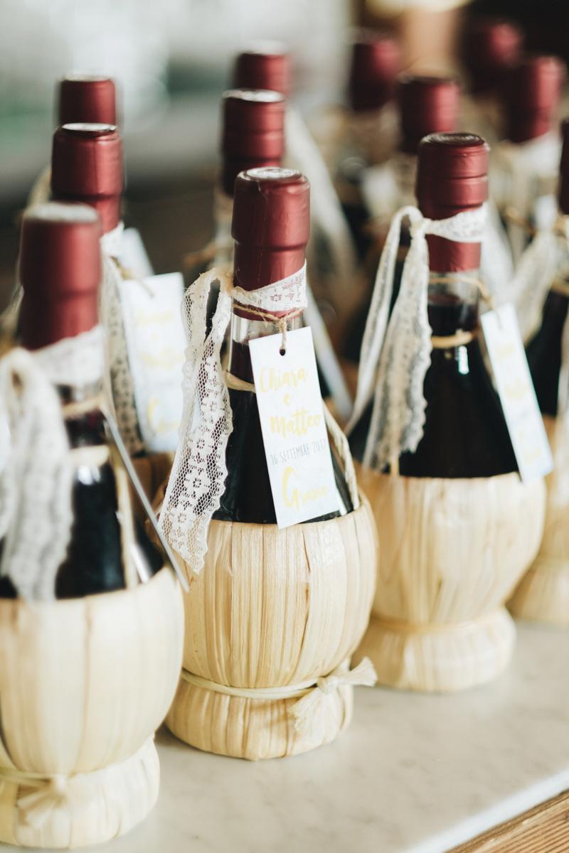 bottiglie di vino bomboniere