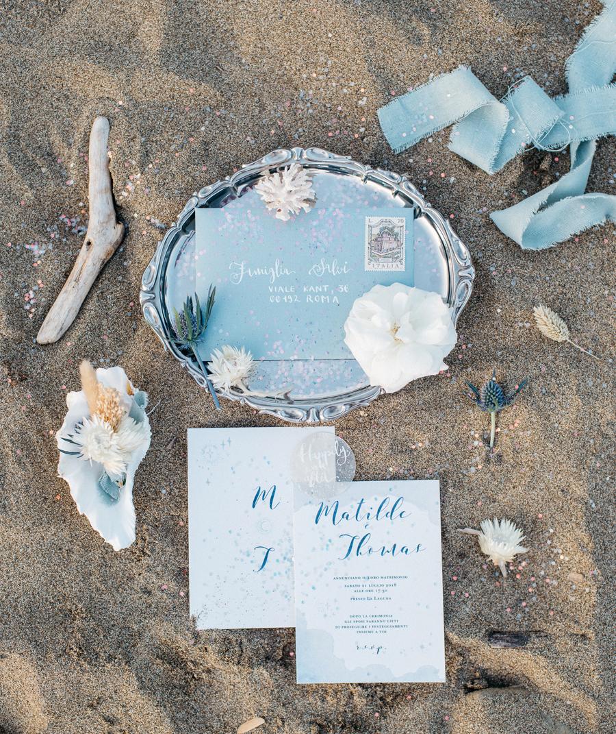 partecipazioni matrimonio sulla spiaggia