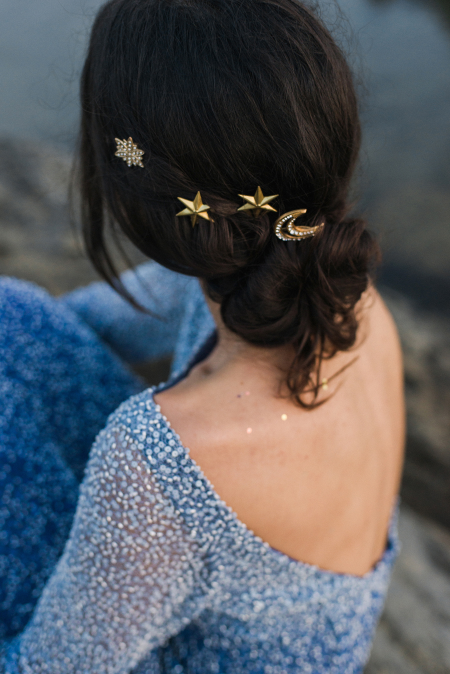 sposa con stelle nei capelli