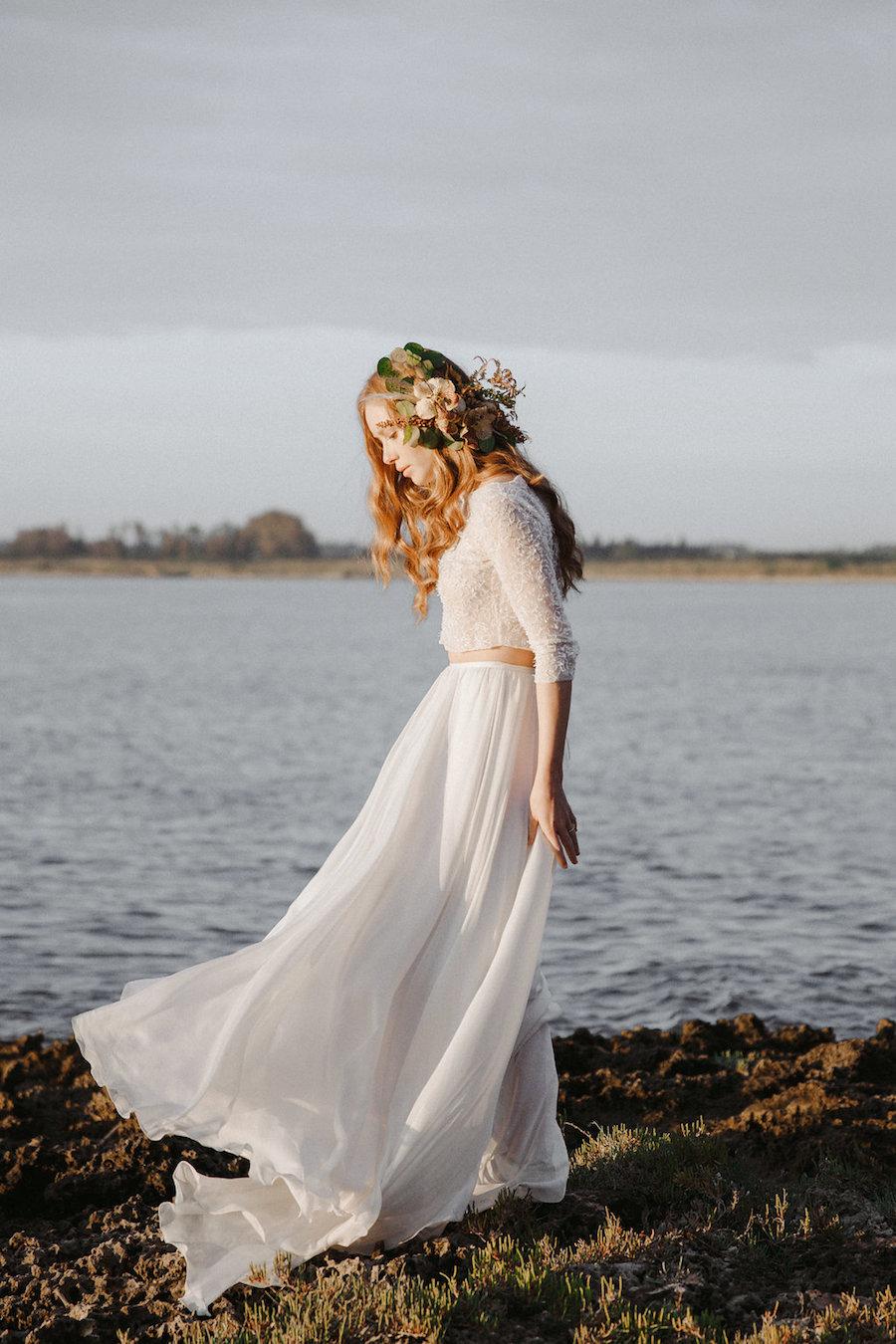 abito da sposa due pezzi silvia valli
