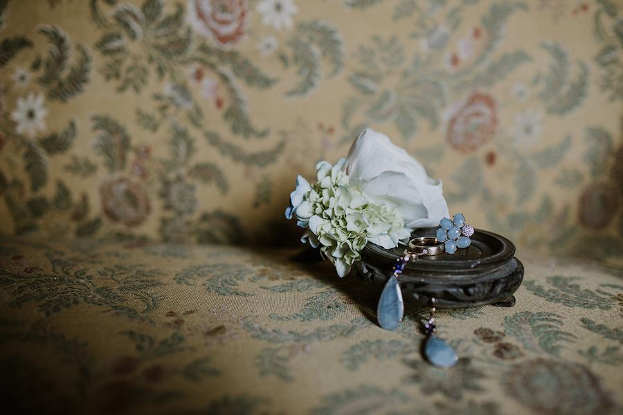 anello e orecchini con acquamarina
