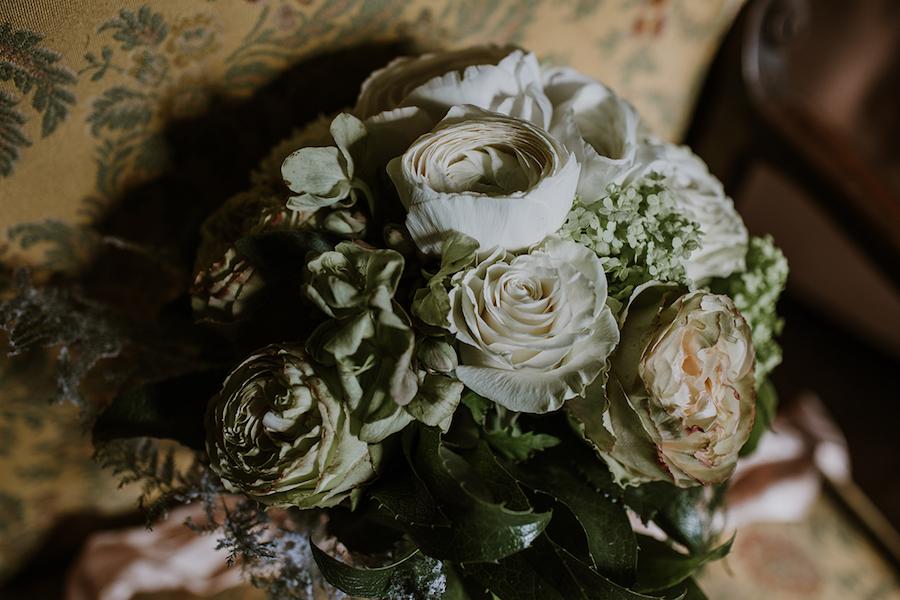 bouquet bianco e verde