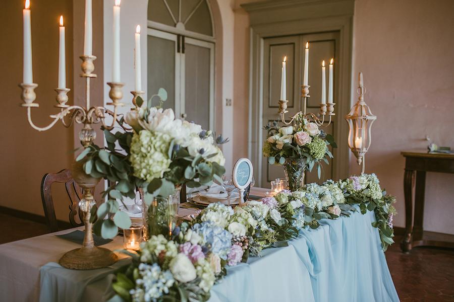 tavola matrimonio raffinato